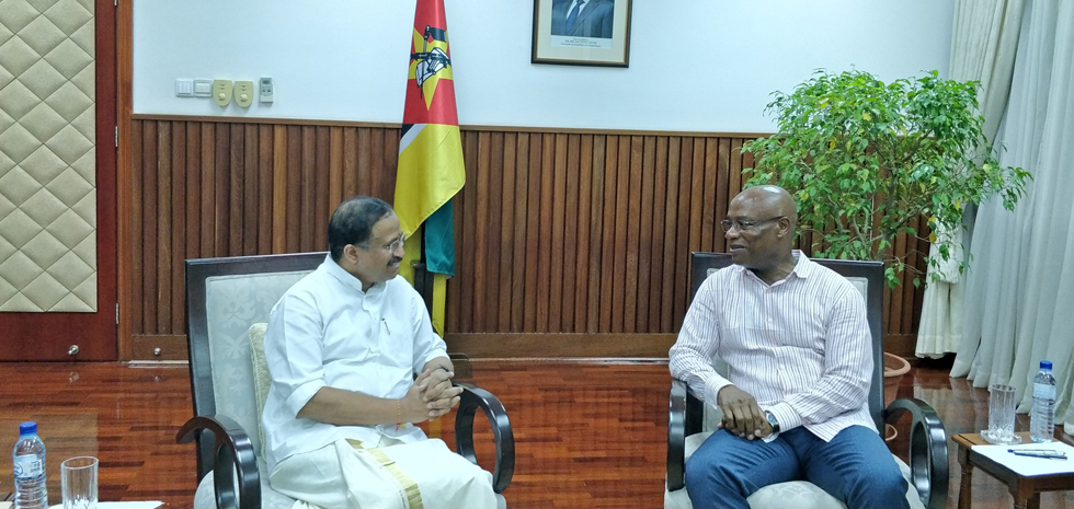 MoS fo External Affairs, Shri V. Muraleedharan, visited Mozambique from 14-16 January 2020